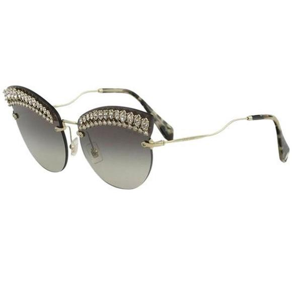 3e50f48d6b3b Miu Miu Accessories   Sunglasses Pale Gold Wgrey Lens   Poshmark